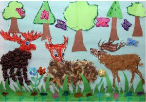 deer bulletin board idea
