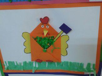 envelope chicken craft
