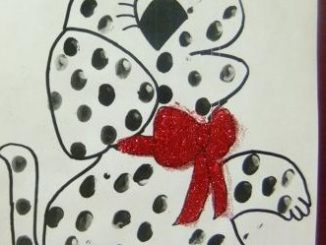 finger-print-Dalmatian-dog-craft