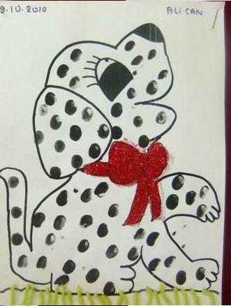 finger-print-Dalmatian-dog-craft