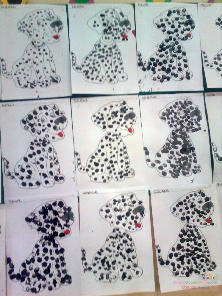 fingerprint-dalmatian-craft-idea