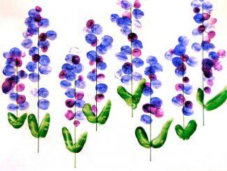 fingerprint-flower-craft-idea