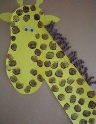 fingerprint-giraffe-craft-idea