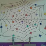 fingerprint spider bulletin board idea