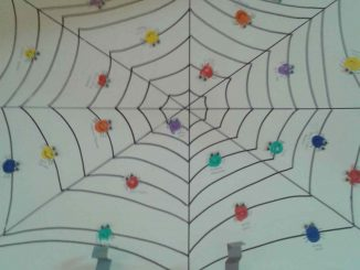 fingerprint spider bulletin board idea