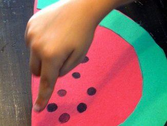 fingerprint-watermelon-craft-idea