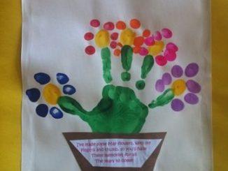 fingerprint_flower_craft_idea
