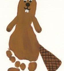 footprint-beaver-craft-idea