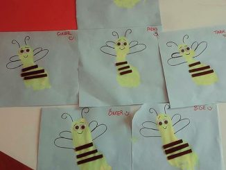 footprint bee craft