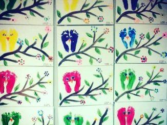 footprint bird craft idea