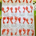 footprint bunny craft