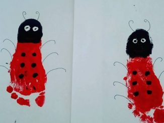 footprint ladybug craft