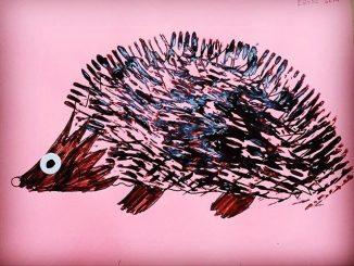 fork-stamp-hedgehog-craft-idea