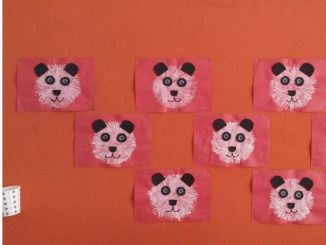fork-stamp-panda-bear-craft-idea