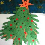 handprint christmas tree craft idea