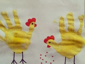 handprint hen craft idea for kids