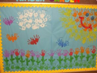handprint-spring-bulletin-board-idea