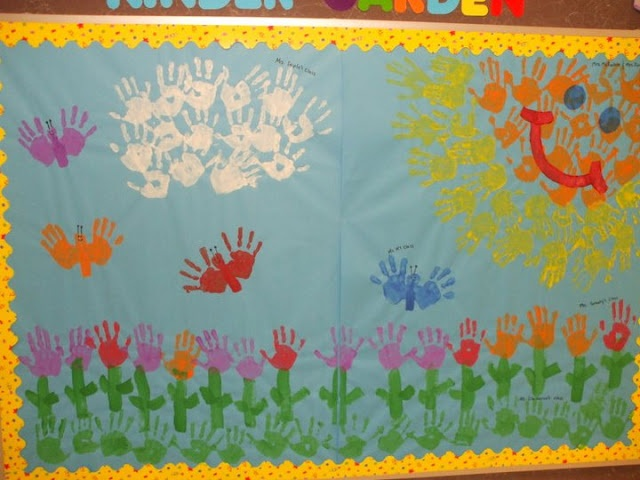 handprint-spring-bulletin-board-idea