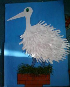 handprint stork craft idea