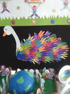 handprint-swan-bulletin-board-idea