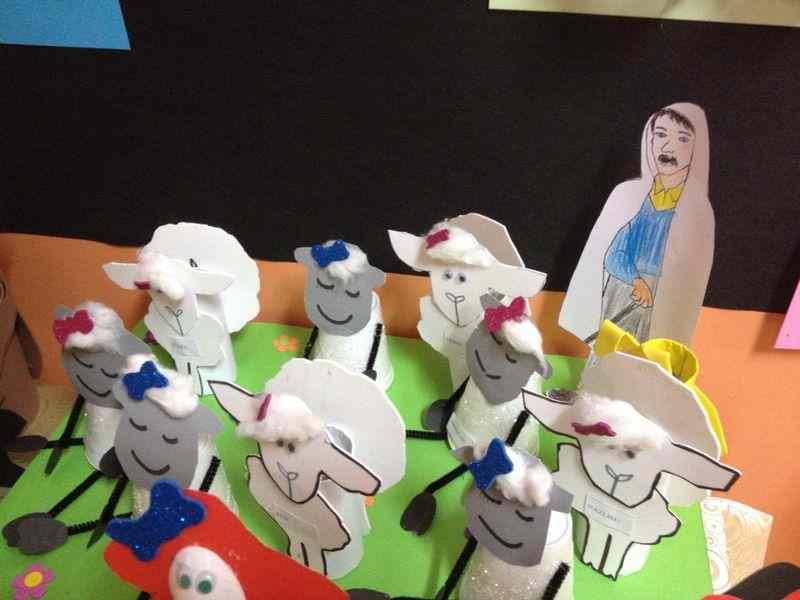 paper cup lamb craft idea