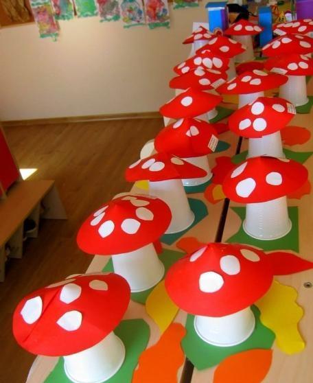 paper-cup-mushroom-craft-idea
