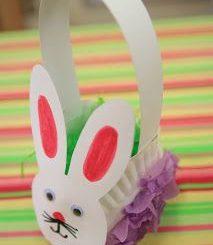 paper-plate-easter-bunny-basket-craft & paper-plate-easter-bunny-basket-craft Archives - Preschoolplanet