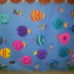 paper plate fish bulletin board idea