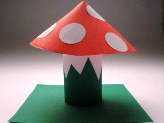 paper-roll-mushroom-craft-idea