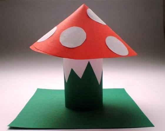 paper-roll-mushroom-craft-idea
