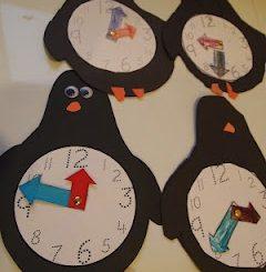 penguin-clock-craft-idea