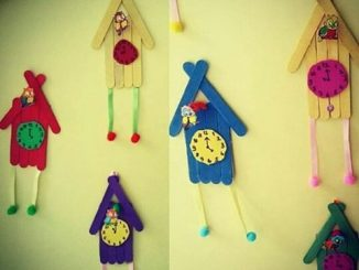 popsicle stick clock craft