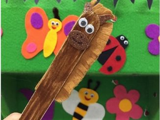 popsicle stick lion craft