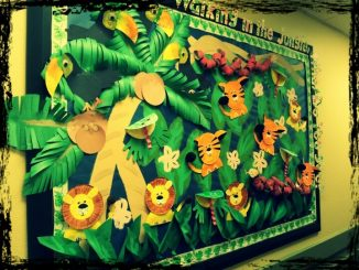 rainforest-bulletin-board-idea-for-kid