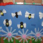 recycled spring bulletin board idea