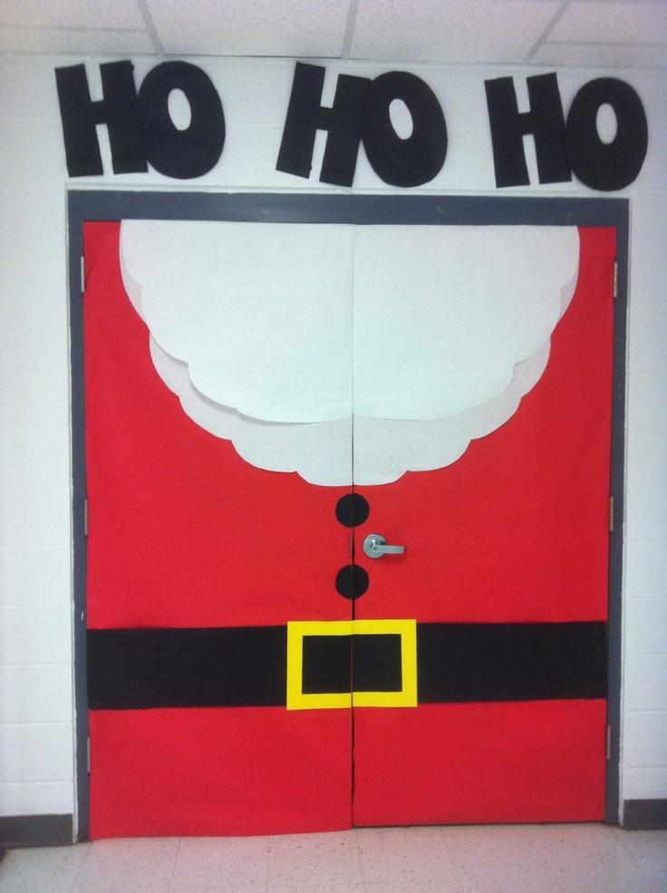 Christmas door decoration idea for kindergarten ...