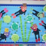 scuba diver bulletin board idea
