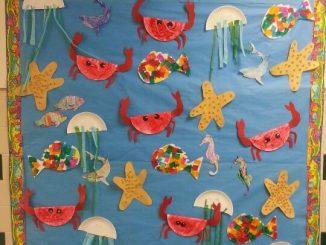 sea animals bulletin board idea