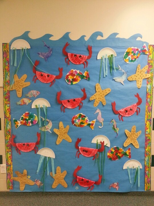 sea animals bulletin board idea