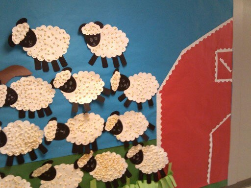 sheep bulletin board idea