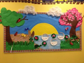 spring-bulletin-board-idea