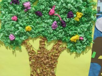 spring tree bulletin board idea (2)