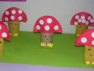 toilet-paper-roll-mushroom-craft-idea