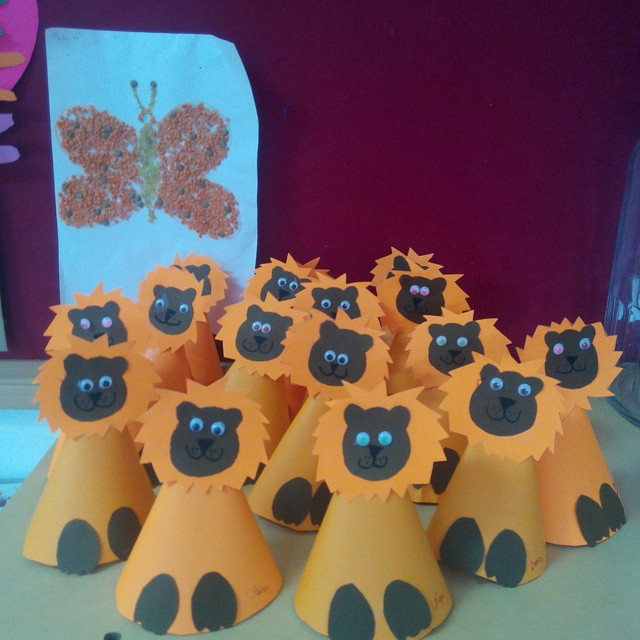 cone shaped lion craft