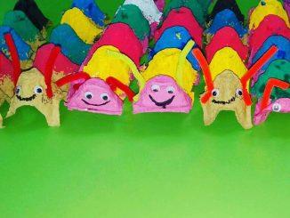 egg carton caterpillar crafts