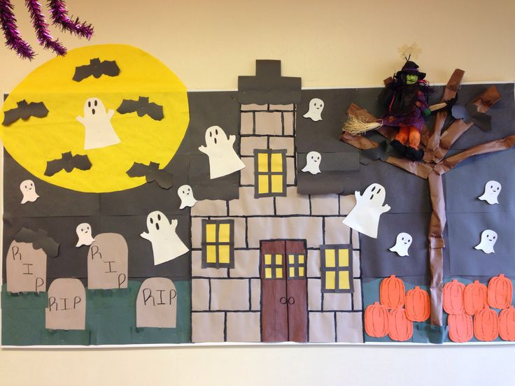 Ghost bulletin board idea for kids