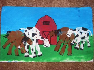 handprint-cow-and-horse-craft-idea