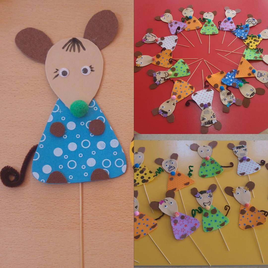 mouse puppet craft