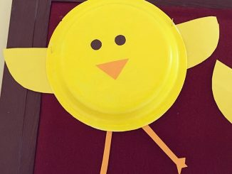 paper plate chick craft idea for kids