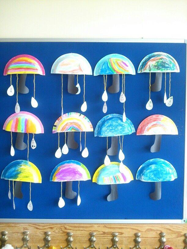paper-plate-umbrella-craft-for-kindergarten
